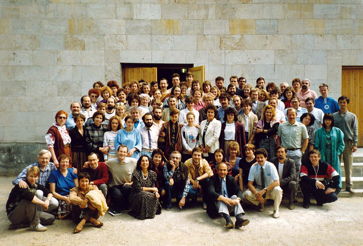 Conference on Positive Psychotherapy in Kazan, Russia 1992 with Nossrat, Manije and Hamid Peseschkian, Russian colleagues from many areas, and Arno Remmers (my first seminar in Russia, followed by many others in Novosibirsk, St. Peterburg, Moscow)
