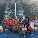 Cruising on Lake Ohrid with the colleagues of the Positive Psychotherapy Conferencebetween Makedonia and Albania